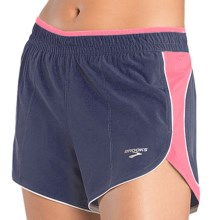 Brooks Epiphany III Stretch Shorts (For Women) in Midnight/Brite Pink - Closeouts