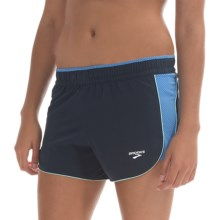 Brooks Epiphany III Stretch Shorts (For Women) in Midnight/Cornflower - Closeouts