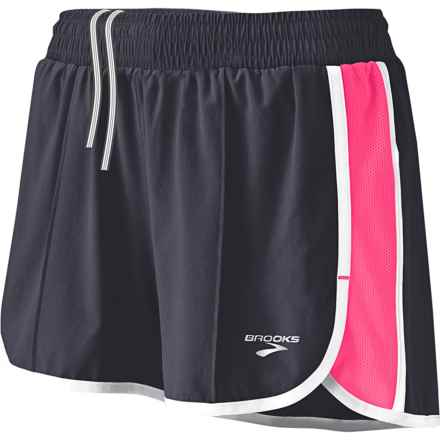 Brooks Epiphany Stretch II Running Shorts (For Women) in Anthracite/Brite Pink - Closeouts