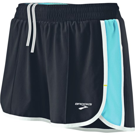 Brooks Epiphany Stretch II Running Shorts (For Women) in Black/Helium