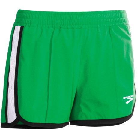 Brooks Epiphany Stretch II Running Shorts (For Women) in Fern