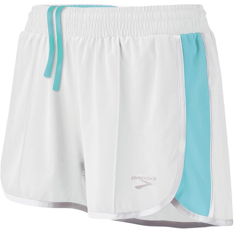 Brooks Epiphany Stretch II Running Shorts (For Women) in Frost/Helium