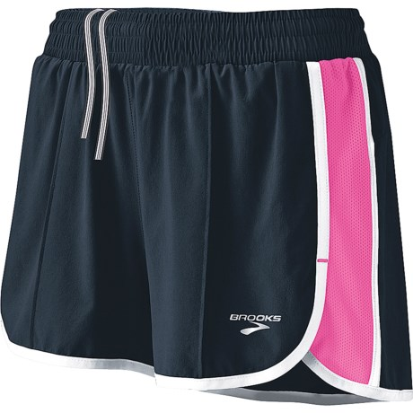 Brooks Epiphany Stretch II Running Shorts (For Women) in Midnight/Brite Pink
