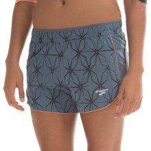Brooks Epiphany Stretch Shorts - Built-In Brief (For Women) in Storm Lattice/Storm - Closeouts