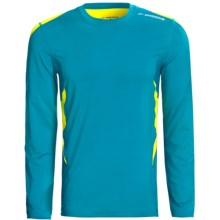 Brooks Equilibrium Shirt - Long Sleeve (For Men) in Atlantic/Sulphur - Closeouts