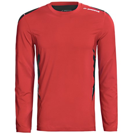 Brooks Equilibrium Shirt - Long Sleeve (For Men) in Power Red