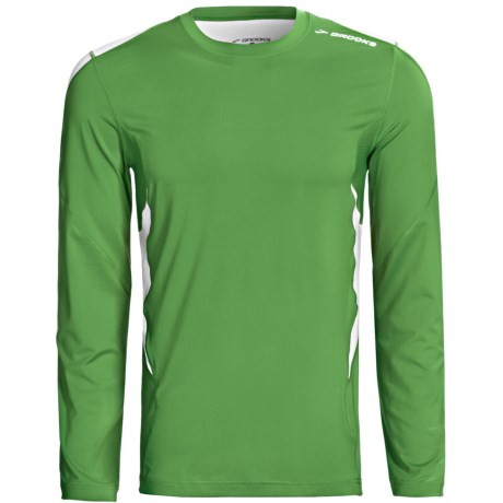 Brooks Equilibrium Shirt - Long Sleeve (For Men) in Atlantic/Sulphur