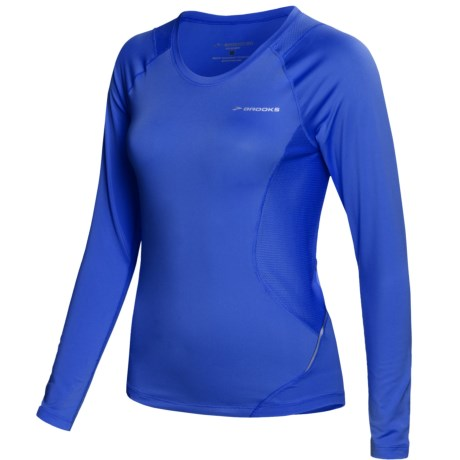 Brooks Equilibrium Shirt - Long Sleeve (For Women) in Electric