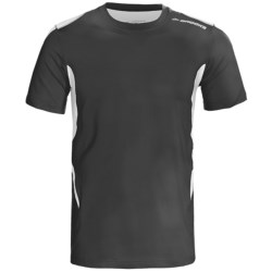 Brooks Equilibrium Shirt - Short Sleeve (For Men) in Gunmetal/Empire