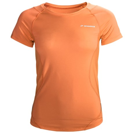 Brooks Equilibrium Shirt - Short Sleeve (For Women) in Carrot