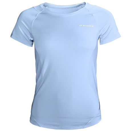 Brooks Equilibrium Shirt - Short Sleeve (For Women) in Powder
