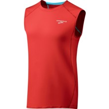 Brooks Equilibrium T-Shirt - Sleeveless (For Men) in Lava/Cyan - Closeouts