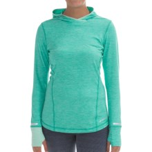 Brooks Essential Hoodie (For Women) in Heather Lagoon/Heather Glass - Closeouts