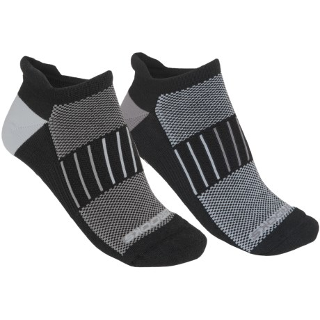 Brooks Essential Low-Cut Socks - 2-Pack, Below-the-Ankle (For Men and Women) in Black/ Graphite