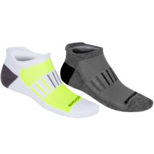 Brooks Essential Low-Cut Socks - 2-Pack, Below-the-Ankle (For Men and Women) in Heather Grey/Black/White/Yellow - 2nds