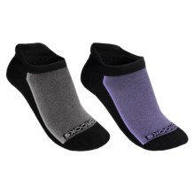 Brooks Essential Low Cut Tab Socks - 2-Pack (For Men and Women) in Black/Purple/Grey - 2nds