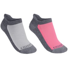 Brooks Essential Low Cut Tab Socks - 2-Pack (For Men and Women) in Grey Bright Pink/White - 2nds
