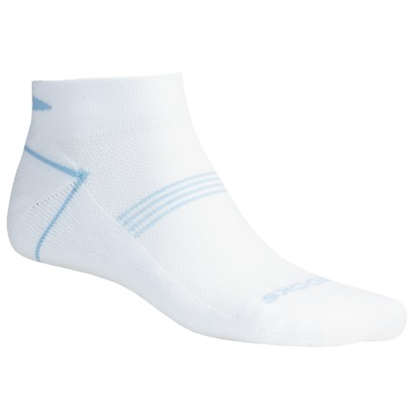 Brooks Essential Low Socks - Ankle, 2-Pack (For Men and Women) in White/Horizon