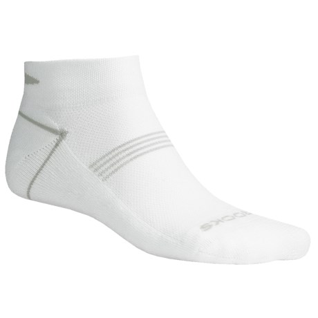 Brooks Essential Low Socks - Ankle, 2-Pack (For Men and Women) in White/Pearl