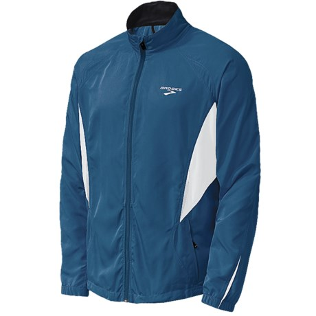 Brooks Essential Run Jacket (For Men) in Power Red