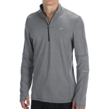 Brooks Essential Run Shirt - Zip Neck, Long Sleeve (For Men) in Heather Anthracite - Closeouts