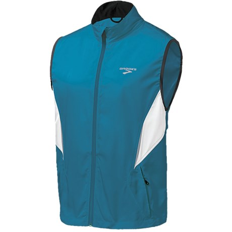 Brooks Essential Run Vest (For Men) in Fern/Black