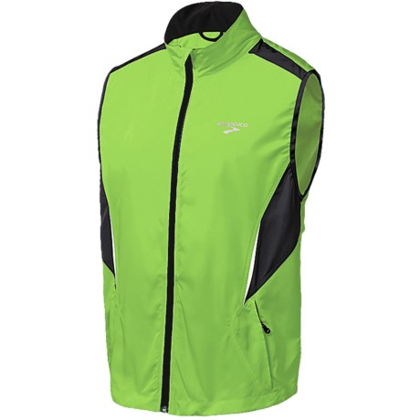 Brooks Essential Run Vest (For Men) in Brite Green