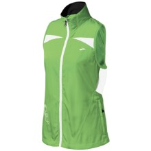 Brooks Essential Run Vest (For Women) in Brite Green/Brite White - Closeouts