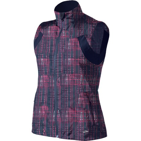 Brooks Essential Run Vest (For Women) in Midnight Hatch/Midnight