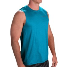 Brooks Essential Shirt - Sleeveless (For Men) in Heather Atlantic - Closeouts
