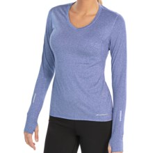 Brooks Essential Shirt - V-Neck, Long Sleeve (For Women) in Electric - Closeouts