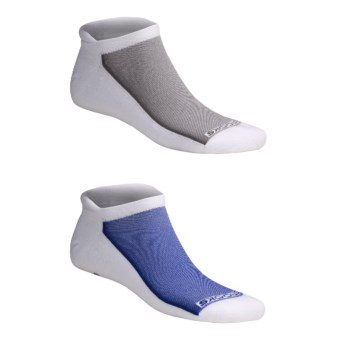 Brooks Essential Tab Socks - 2-Pack (For Men and Women) in White/Blue White/Grey