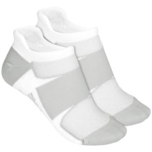 Brooks Essential Tab Socks - 2-Pack (For Men and Women) in White/Grey White/Grey - 2nds