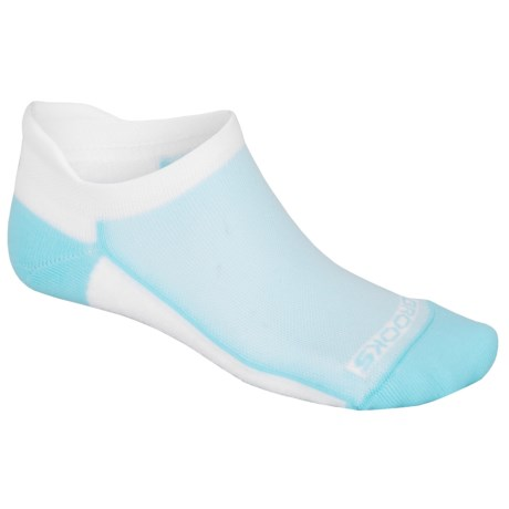 Brooks Essential Tab Socks - 2-Pack (For Men and Women) in White/Helium
