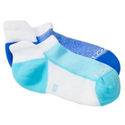 Brooks Essential Tab Socks - 2-Pack (For Men and Women) in White/Seafoam/Korn Blue