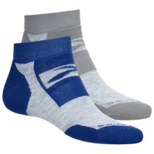 Brooks Essential Training Day Socks - 2-Pack, Ankle (For Men and Women) in Kobalt/Heather Grey/Gail/Heather Grey - 2nds