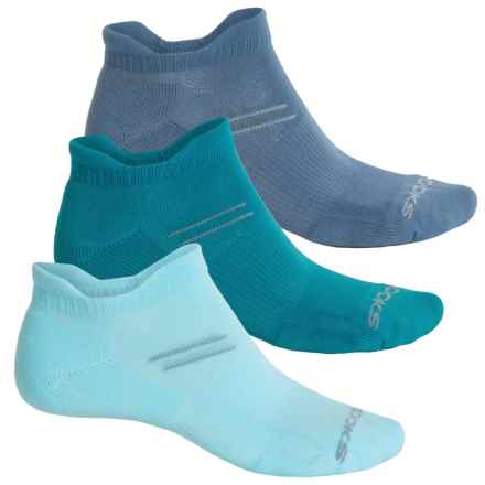 Brooks Every Day Double-Tab Socks - 3-Pack, Below the Ankle ( For Men and Women) in Breeze/Aurora/Storm - Closeouts