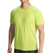 Brooks EZ III T-Shirt - Short Sleeve (For Men) in Heather Lime Green - Closeouts