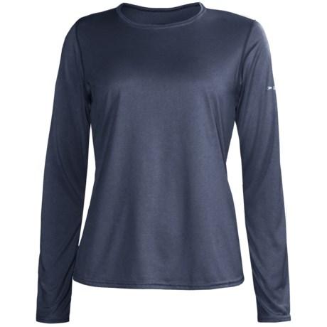 Brooks EZ Shirt - Long Sleeve (For Women) in Midnight