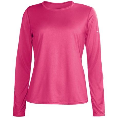 Brooks EZ Shirt - Long Sleeve (For Women) in Pomegranite