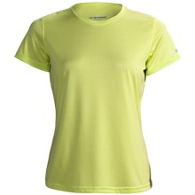 Brooks EZ T II Shirt - Short Sleeve (For Women) in Citrus - Closeouts
