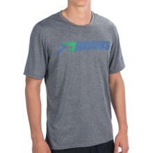 Brooks EZ T III Retro T-Shirt - Short Sleeve (For Men) in Heather Anthracite/Galaxy - Closeouts