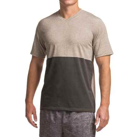 Brooks Fly-By Running Shirt - Short Sleeve (For Men) in Heather Carb/Black - Closeouts