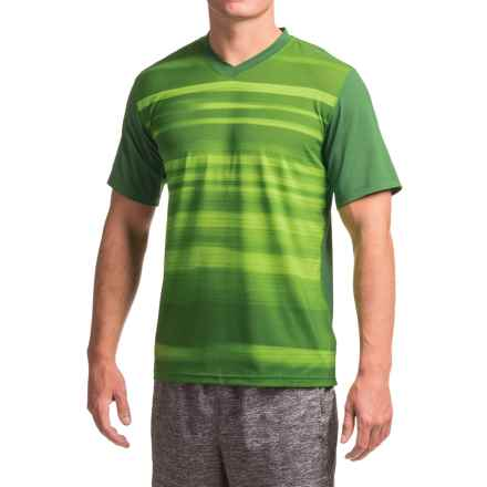 Brooks Fly-By Running Shirt - Short Sleeve (For Men) in Heather Forest Blur - Closeouts