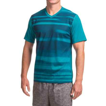 Brooks Fly-By Running Shirt - Short Sleeve (For Men) in Heather River Blur - Closeouts