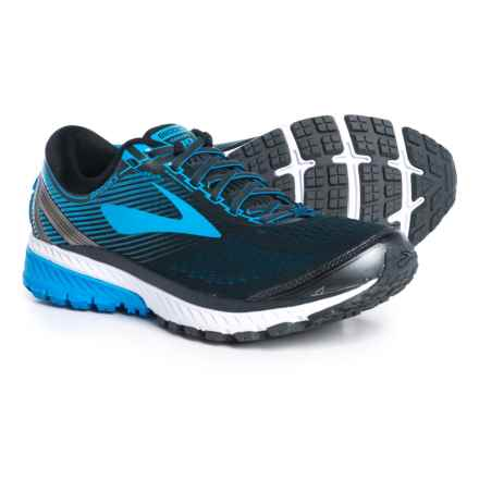 Brooks Ghost 10 Running Shoes (For Men) in Ebony/Metallic Charcoal/Electric Brooks Blue - Closeouts