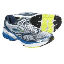 Brooks Ghost 4 Running Shoes (For Men) in White/Bsidian/Strong Blue/Silver/Pavement/Lime Pun - Closeouts