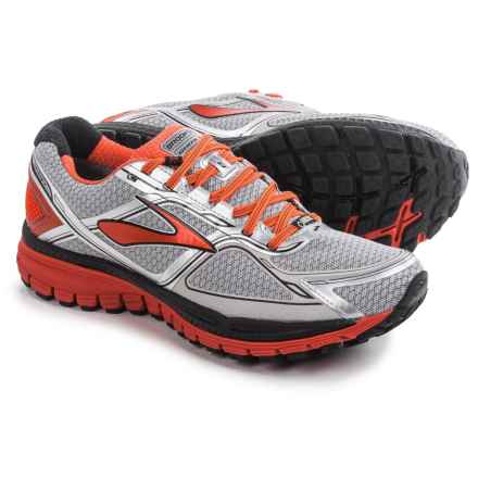 Brooks Ghost 8 Gore-Tex® Trail Running Shoes (For Men) in Silver/Poinciana/Black - Closeouts