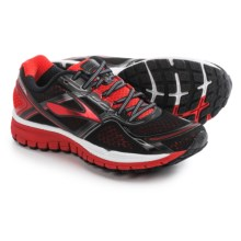Brooks Ghost 8 Running Shoes (For Men) in Black/High Risk Red/Silver - Closeouts