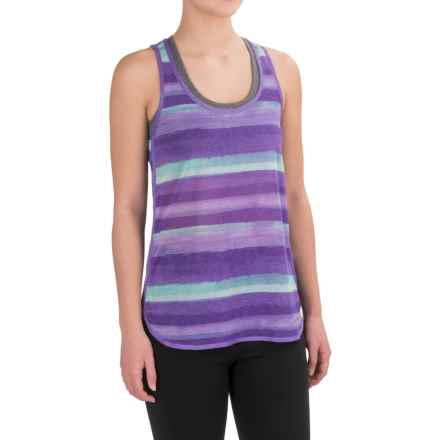 Brooks Ghost Racerback Running Shirt - Sleeveless (For Women) in Dusk Scape - Closeouts